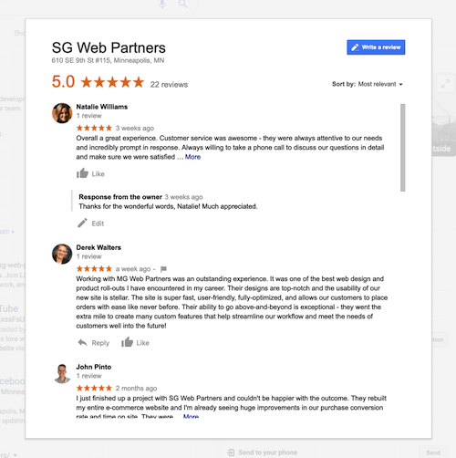 google-reviews-minneapolis-web-design