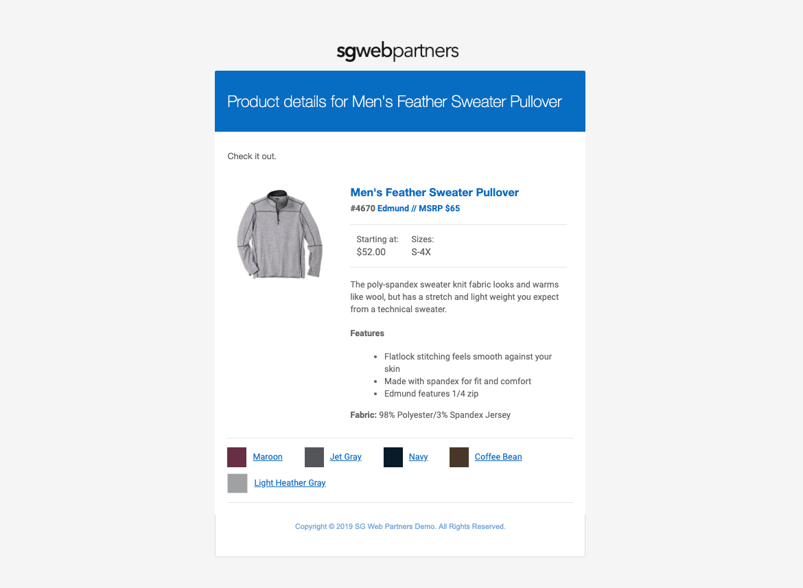woocommerce-email-product-page