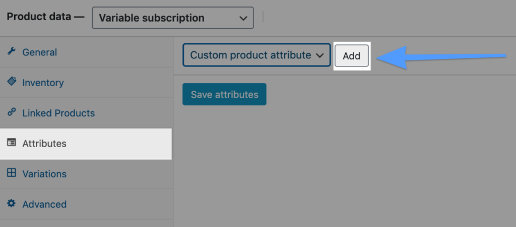 Variable-Subscription-Product-WooCommerce-dashboard-Products-Product-Data-Variable-Subscription-Attributes-Add-2048x533