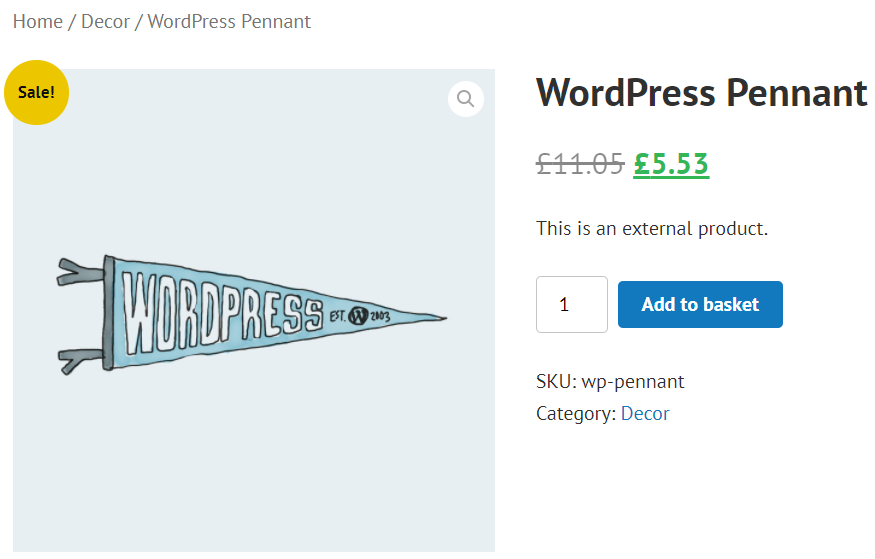 Word¨ress pennant frontend