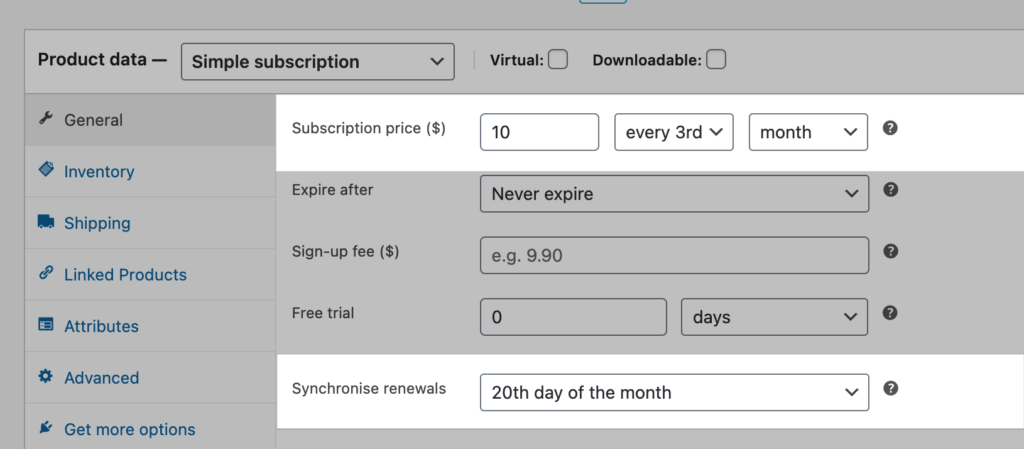 woocommerce-subscriptions-synchronise-date-of-month